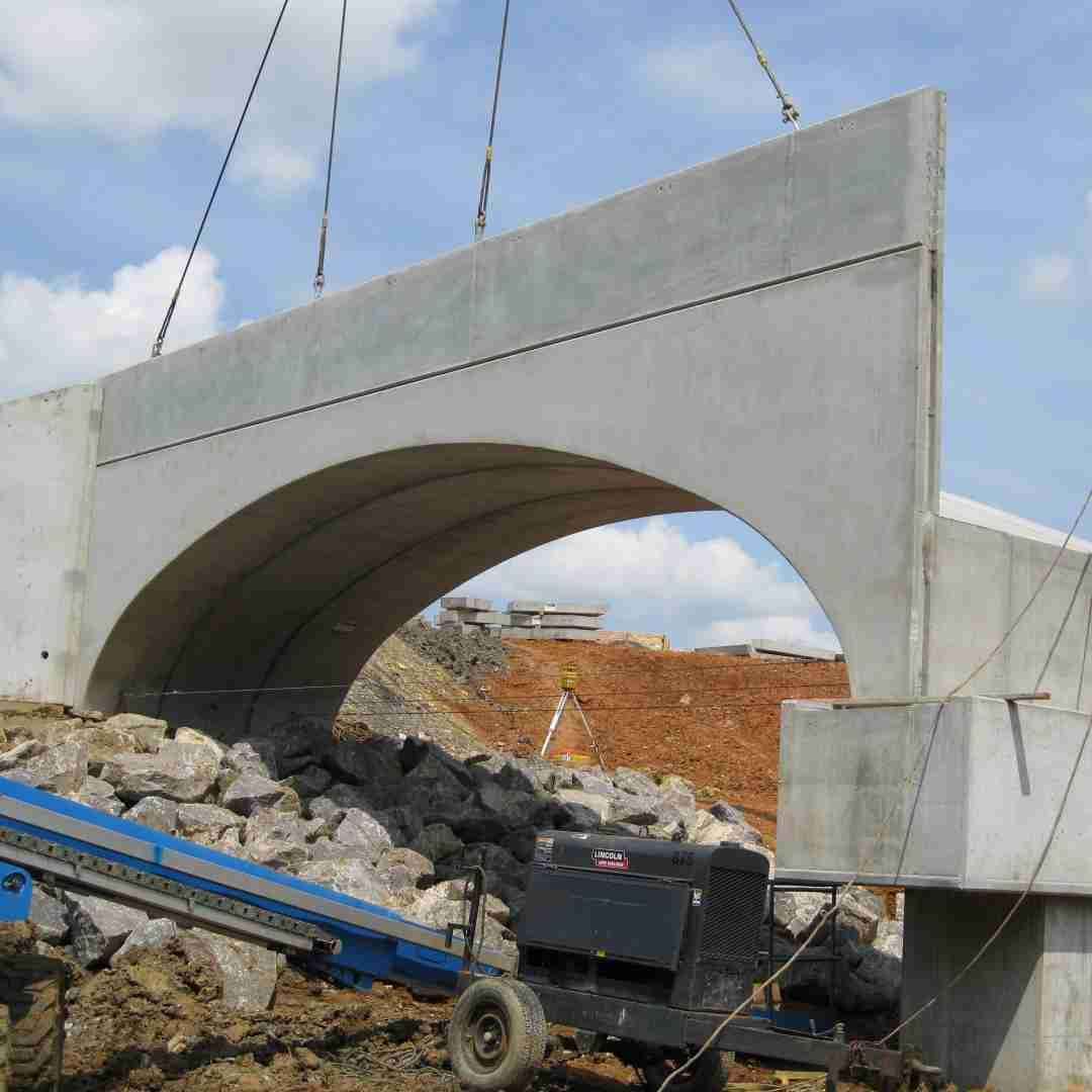 Tindall Corporation Heavy Civil Precast Norfolk Southern Birmingham Regional Intermodal Facility Bridges Birmingham Alabama