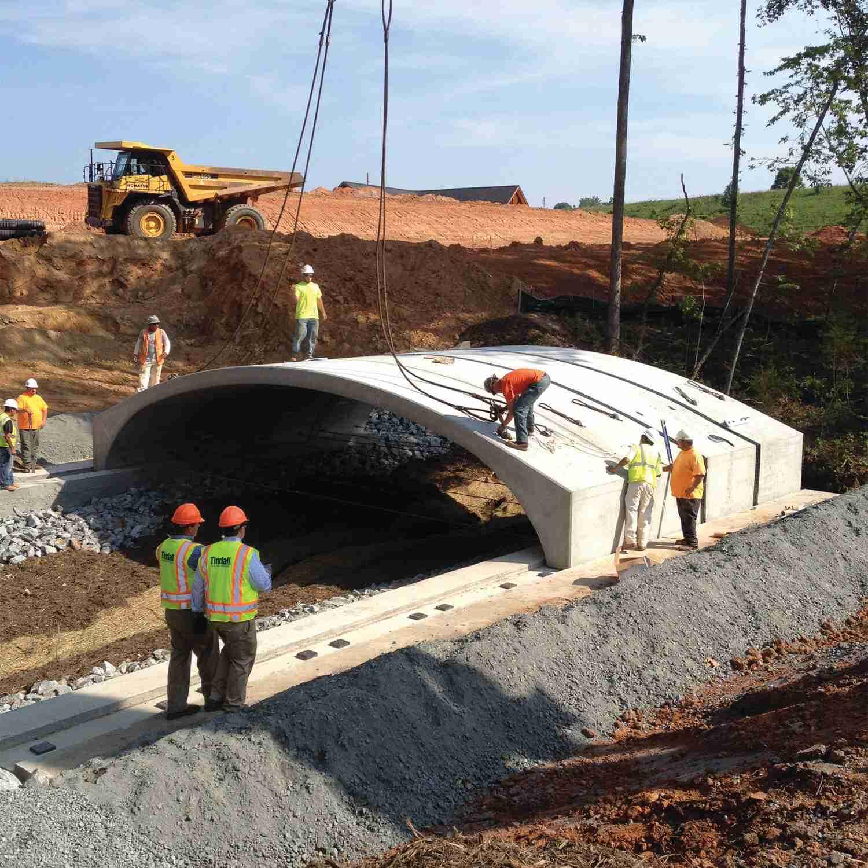 Tindall Corporation Utilities Precast Concrete Arch Culvert Tryon International Equestrian Center Mill Spring North Carolina