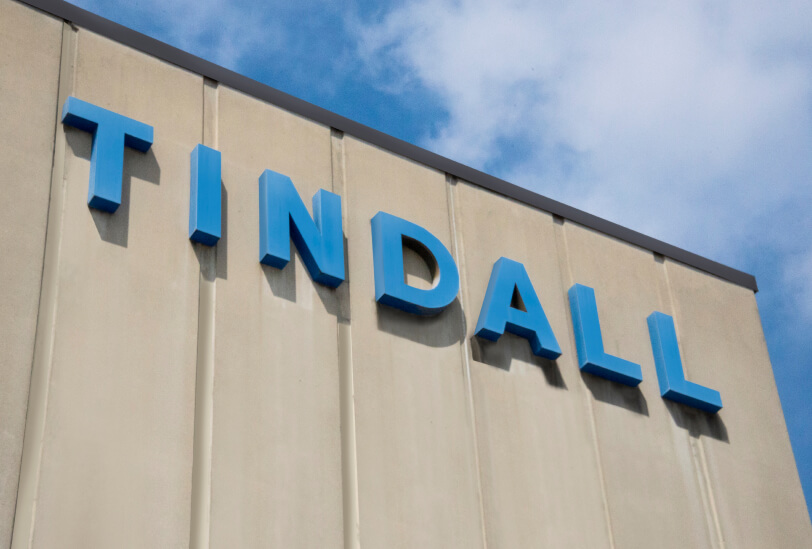 tindall sign on building