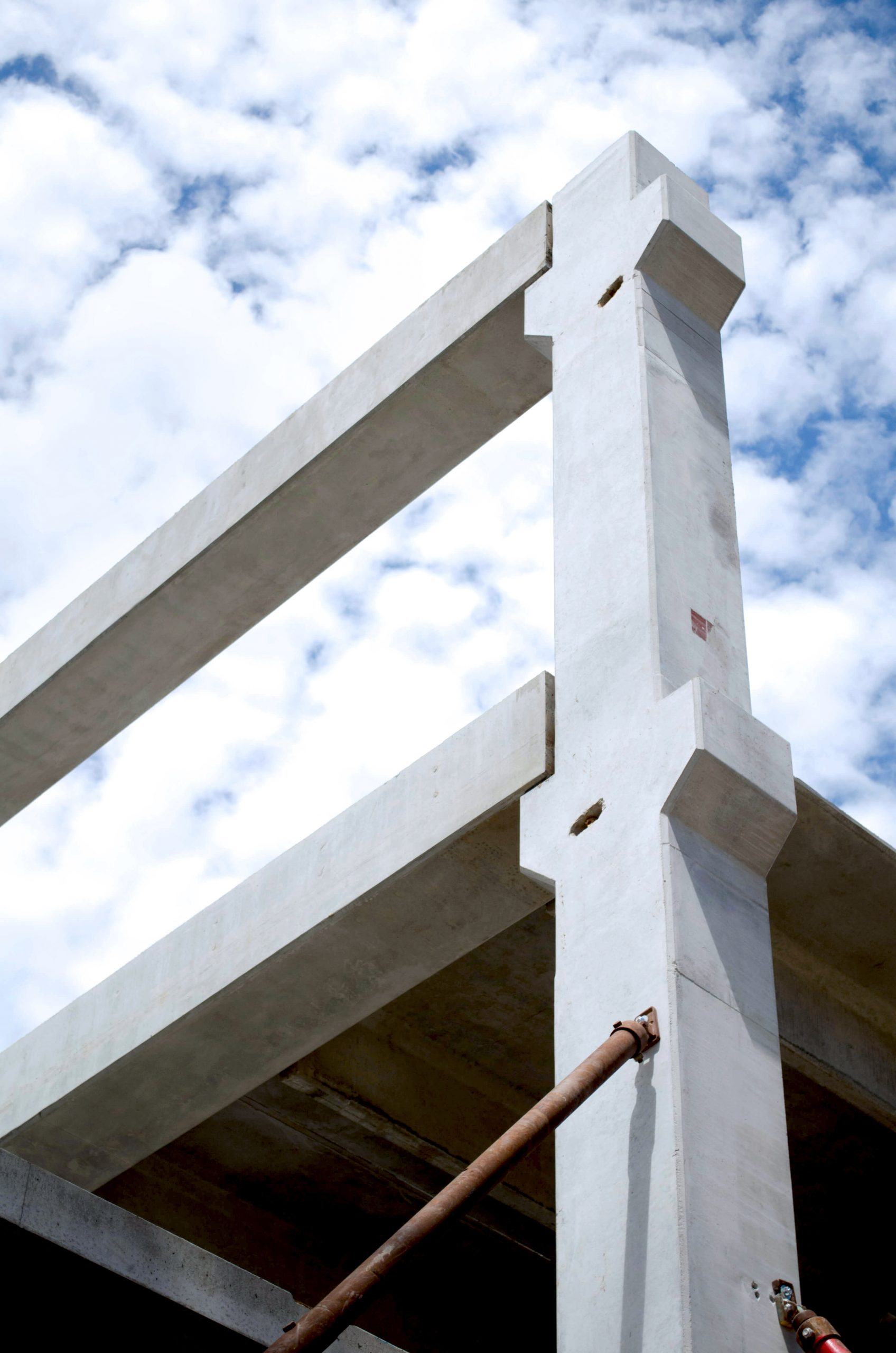 White interior column